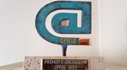 El CPEIG nos otorga el premio e-Inclusión por el proyecto Pictoaplicaciones